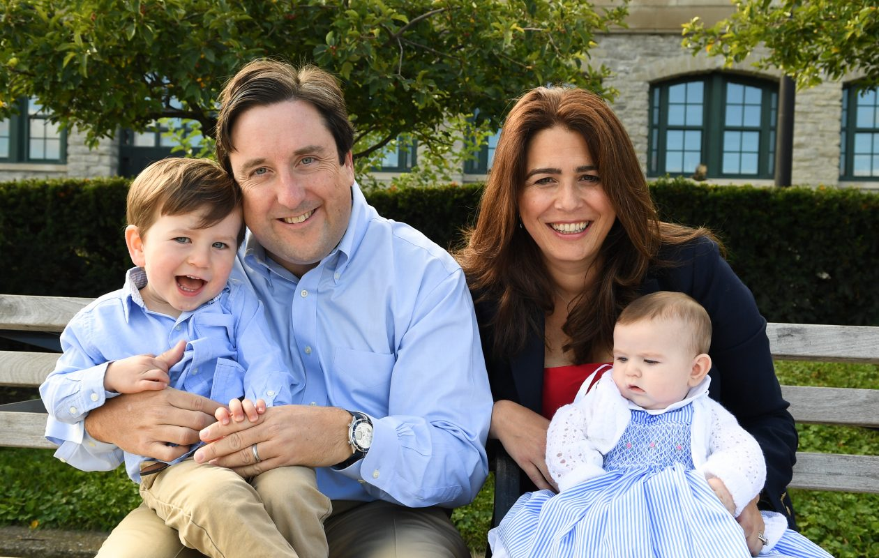 Jack O'Donnell and his wife, Marina, with their children, Thomas and Elsie. (Contributed photo)