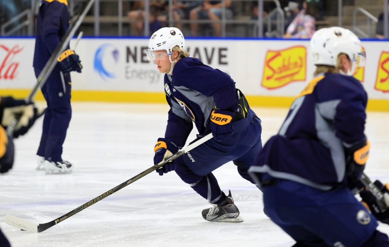Alex Nylander was not on the ice for development camp. (Harry Scull Jr./News file photo)