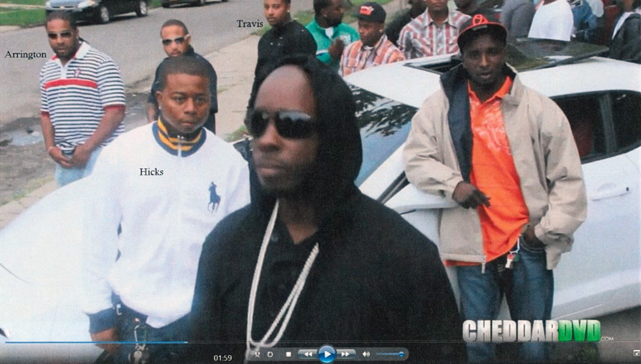A still from a music video included in the court document detailing the charges against Marcel Worthy. Worthy asked that the music videos not be used against him. (United States of America vs. Marcel Worthy)