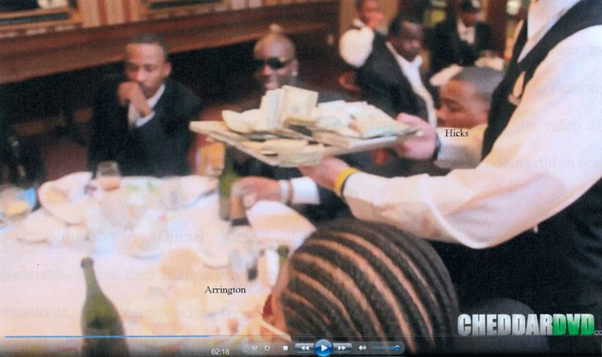 A still from the music video included in the court document detailing the charges against Marcel Worthy. Worthy asked that the music videos not be used against him. (United States of America vs. Marcel Worthy)