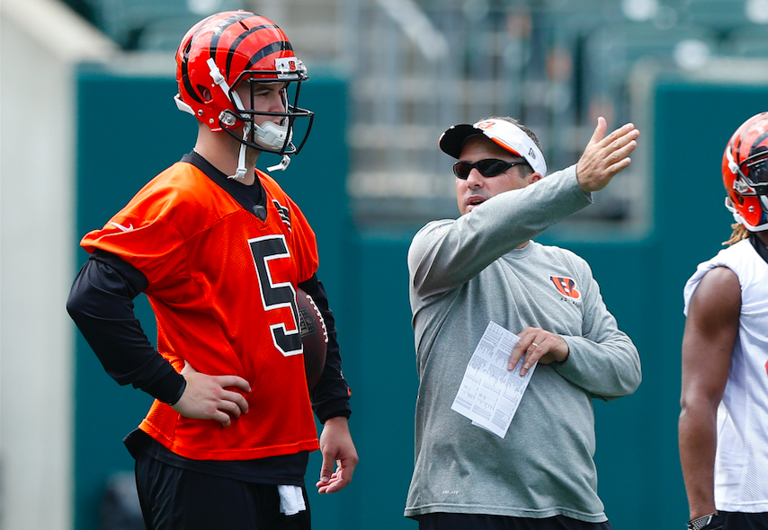 Former Bengal AJ McCarron was as good a choice as any for his role with the Bills. (Getty Images)