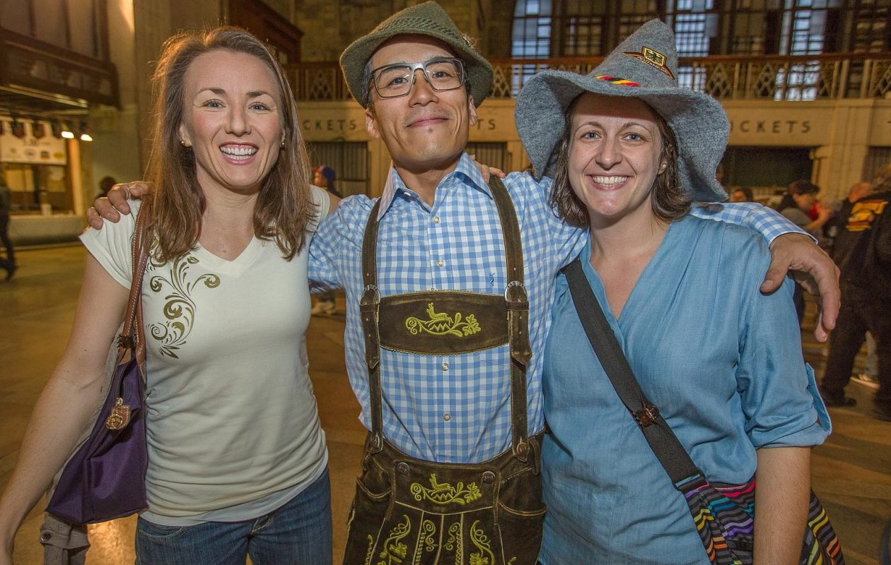 Smiling faces at the Central Terminal Oktoberfest in 2016. (Don Nieman/Special to The News)
