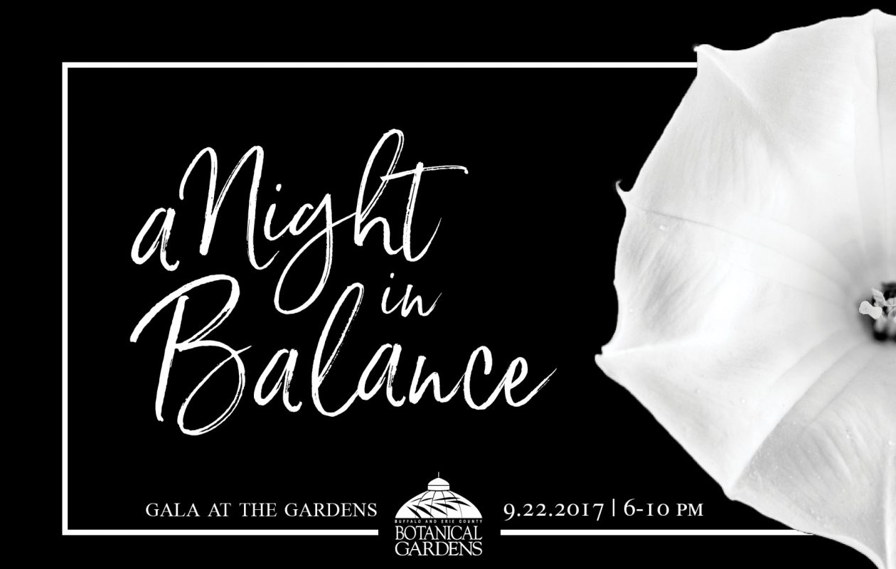 The annual Gala at the Gardens comes to the Buffalo and Erie County Botanical Gardens Sept. 22. This year's theme is 'A Night in Balance.'