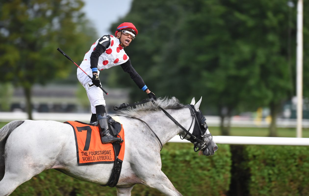 World Approval heads to Woodbine after big Saratoga win Photo Credit: Susie Raisher/NYRA