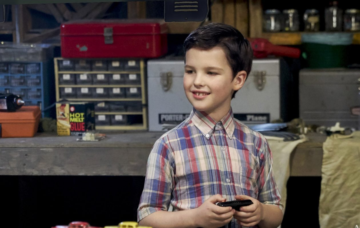 Iain Armitage plays the young Sheldon Cooper in the CBS spin-off of 'The Big Bang Theory.'  In 'Young Sheldon' he plays the 9-year-old Sheldon who is attending high school.  (Robert Voets/CBS ENTERTAINMENT)
