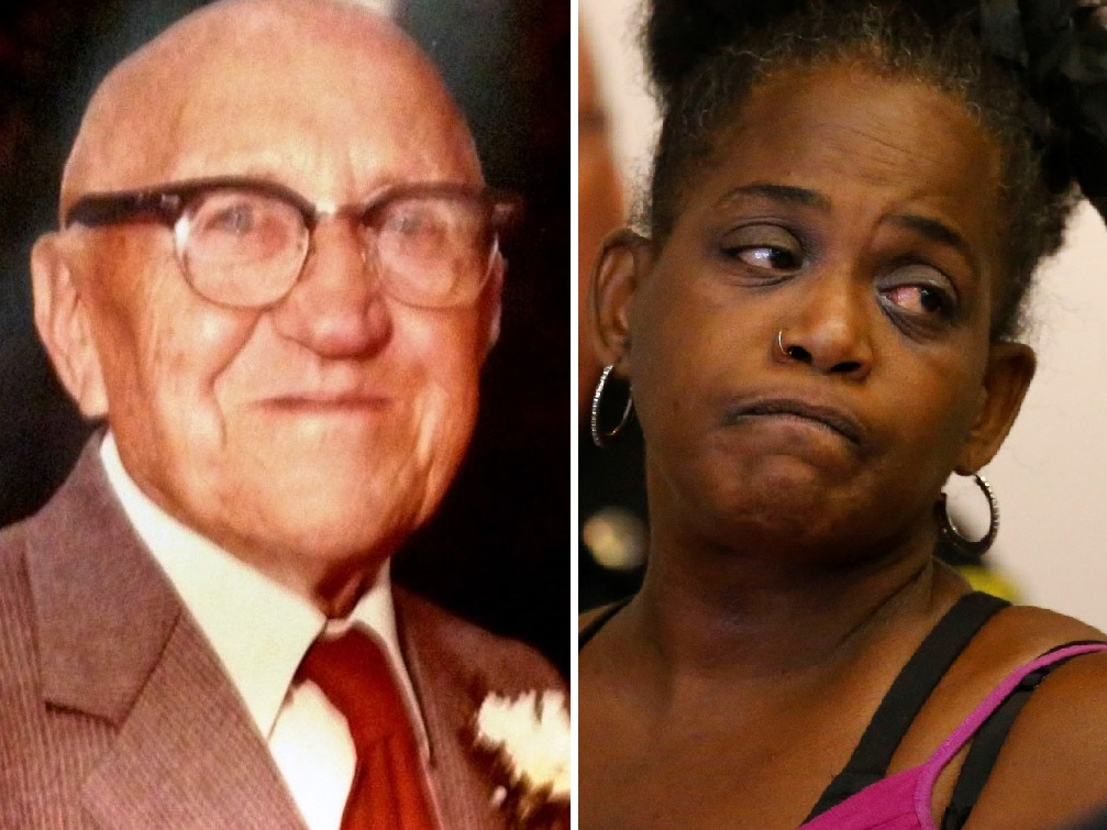 Edmund Schrieber, a World War I veteran, was found strangled with his own neckties in his Hastings Avenue home in 1983. Saundra Adams has pleaded guilty to first-degree manslaughter. Police believe an accomplice was involved.