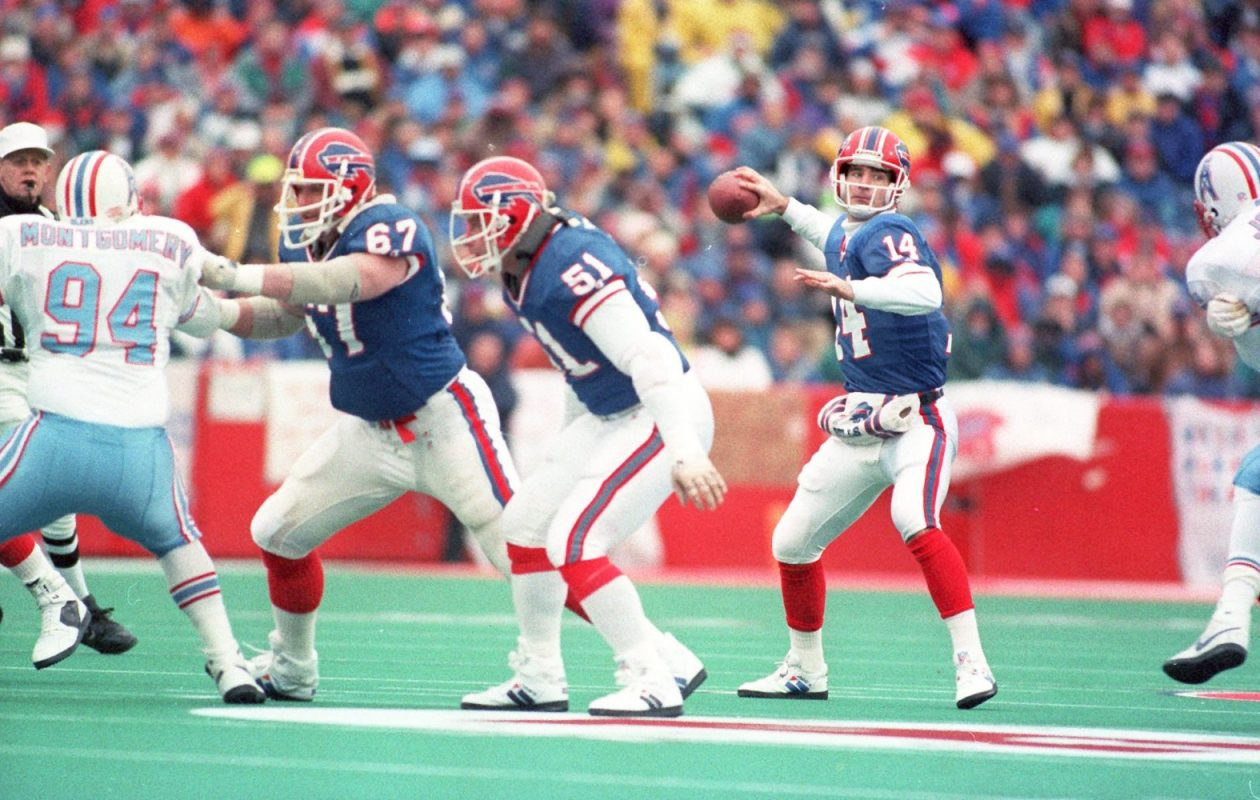 Steve Tasker said of the Frank Reich-led 'Comeback': 'It's a mile-marker in everybody's life. We all have a story about it.' (Bill Wippert/News file photo)
