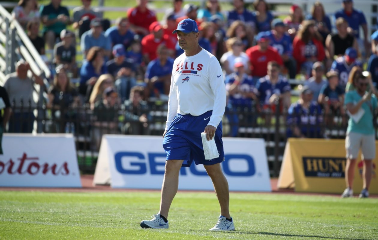 Rick Dennison's offenses, especially the last two seasons, have thrown the ball much more than the Bills have. (James P. McCoy/Buffalo News)