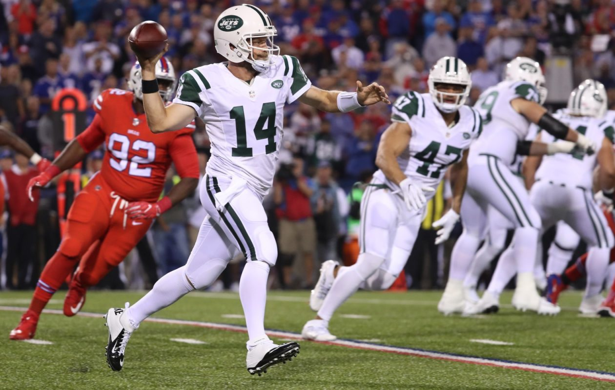 Ryan Fitzpatrick was the target of a joke made by former teammate and current Giants receiver Brandon Marshall. (James P. McCoy/ Buffalo News)