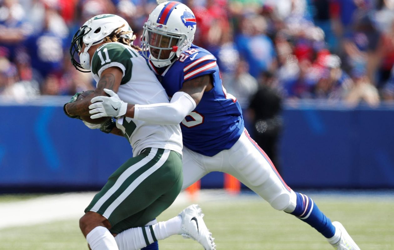 Buffalo Bills cornerback E.J. Gaines was officially credited with 59 tackles.   (Mark Mulville/News file photo)