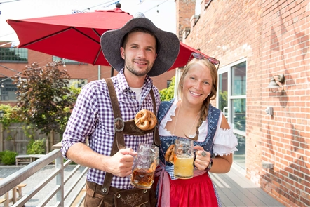Smiles at Oktoberfest at Resurgence Brewery