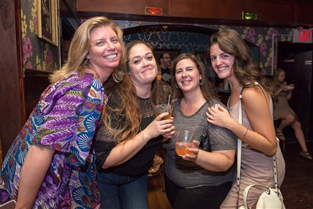 Smiles at Gypsy Parlor fourth anniversary party