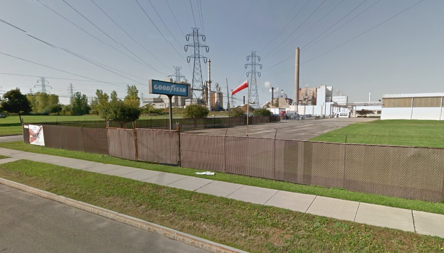 A water main break at the Goodyear plant in Niagara Falls overnight caused water pressure to drop for many residents in the city. (Google Streetview)