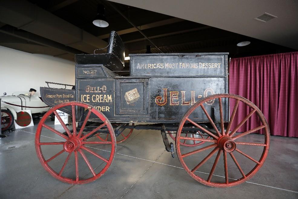The Jell-O wagon at the Buffalo Transportation/Pierce Arrow Museum in Buffalo. (Mark Mulville/Buffalo News)