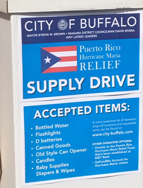 City Hallways (Sept. 26): Donation drive for Puerto Rico
