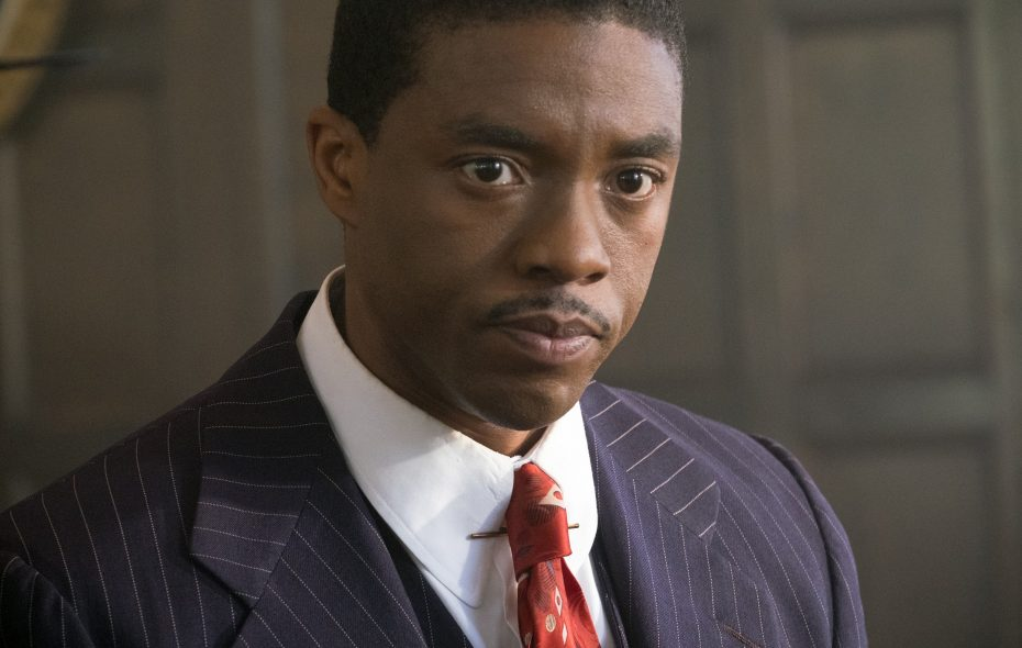 "Chadwick Boseman stars in the title role of the Buffalo-made film ""Marshall."""