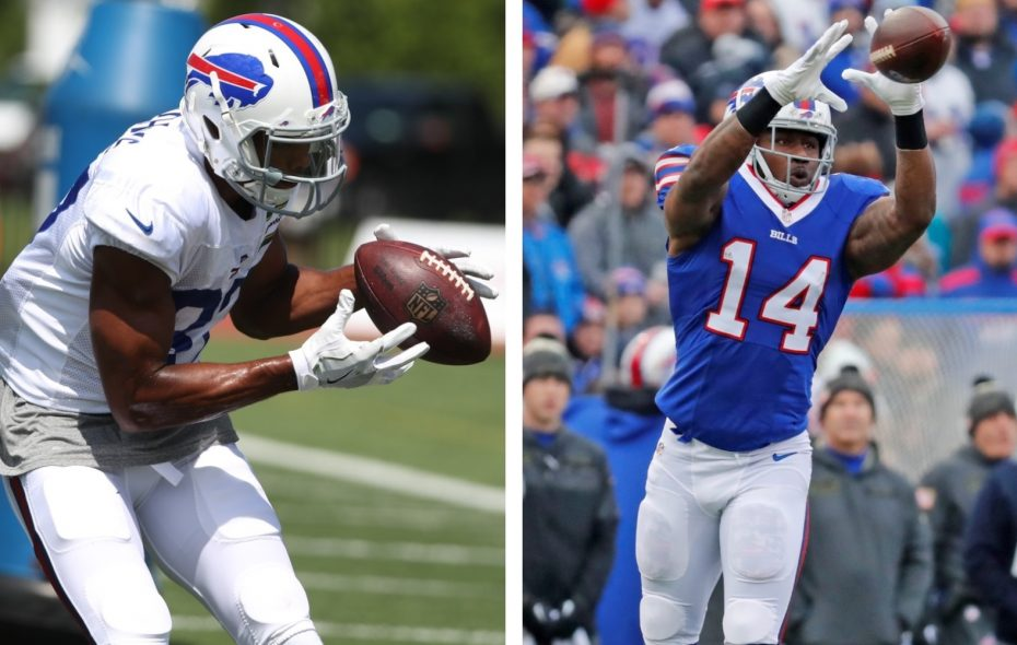 Jordan Matthews and  Sammy Watkins have identical yards per targets stats at this point in the season. (Photos by James P. McCoy and Harry Scull/Buffalo News)
