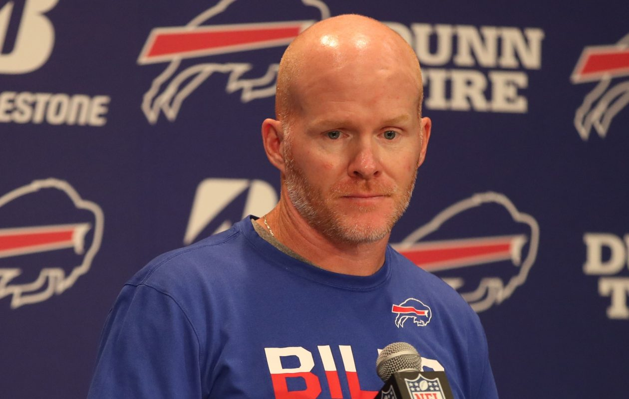 Buffalo Bills head coach Sean McDermott addressed the media Wednesday.  (James P. McCoy/Buffalo News file photo)