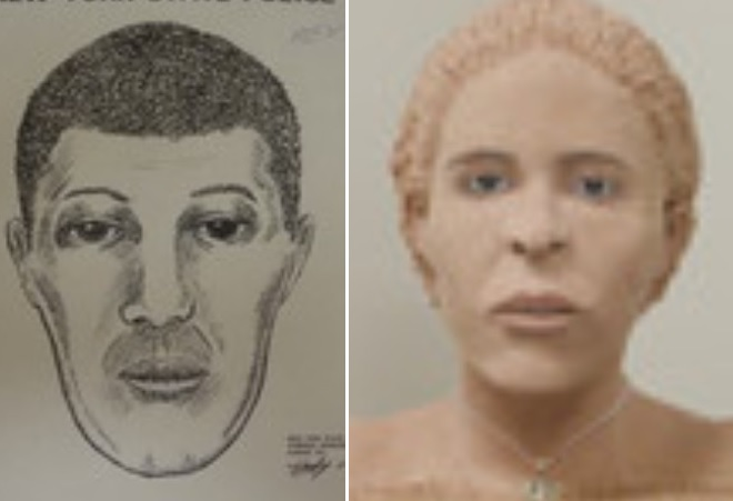 Among the 24 bodies found in Niagara County since 1989 and yet to be identified are this man, who was found bound and gagged on the Tuscarora Reservation in 1991, and this woman found inside a burning nightclub on Whirlpool Street in Niagara Falls in 2003.
