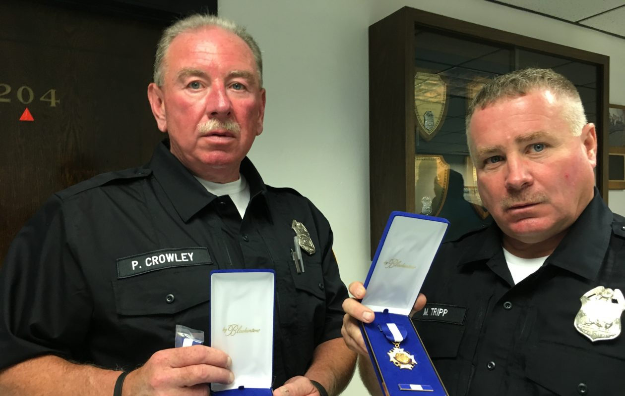 Buffalo Police Officers Patrick Crowley and Mark Tripp: Medals of Commendation for saving a choking child. (Sean Kirst/The Buffalo News)