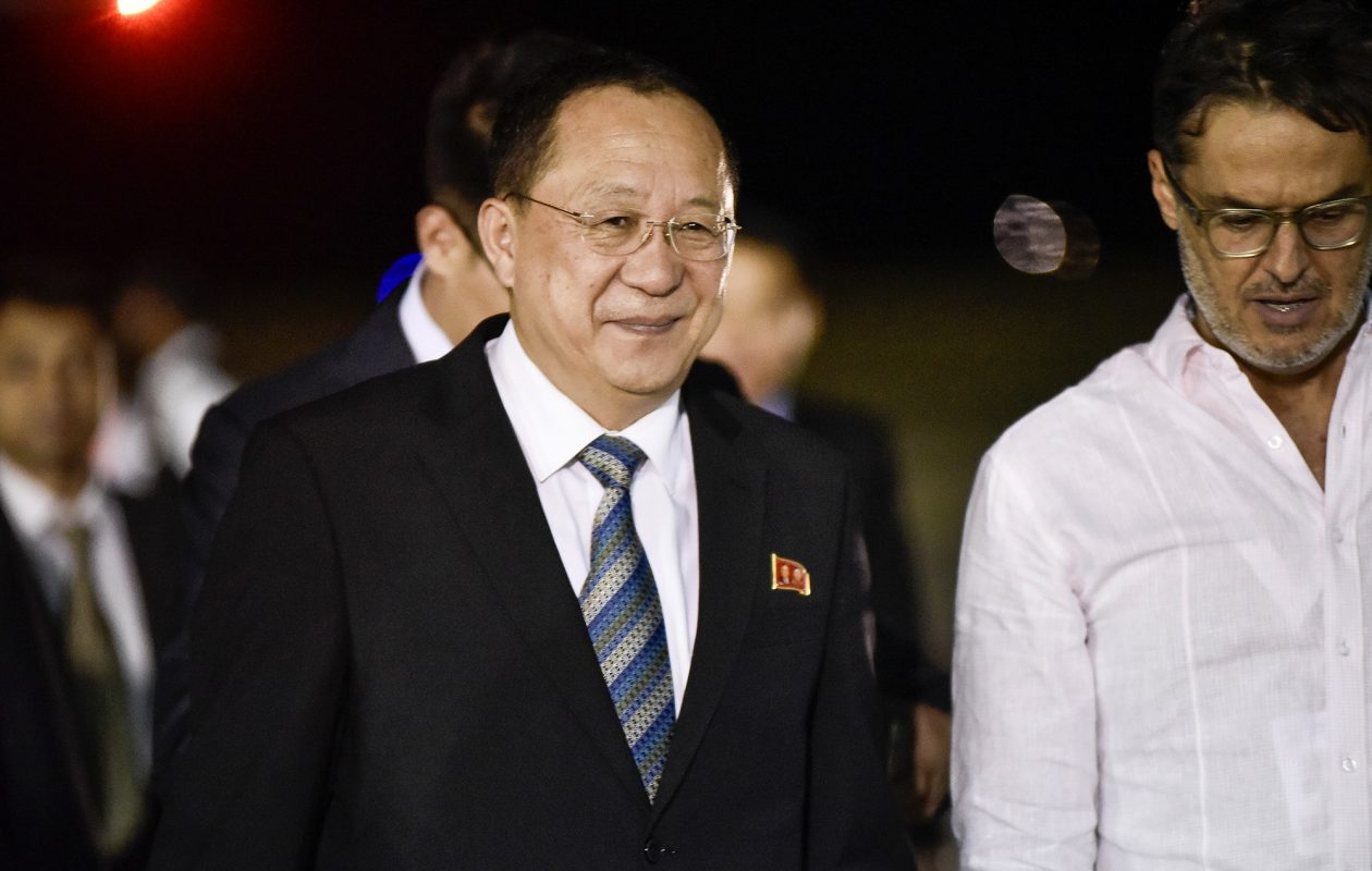 North Korea Foreign Minister Ri Yong-Ho  says  North Korea has the right to shoot down U.S. warplanes, even if they are not in North Korean airspace. (Carlos Becerra/Bloomberg)
