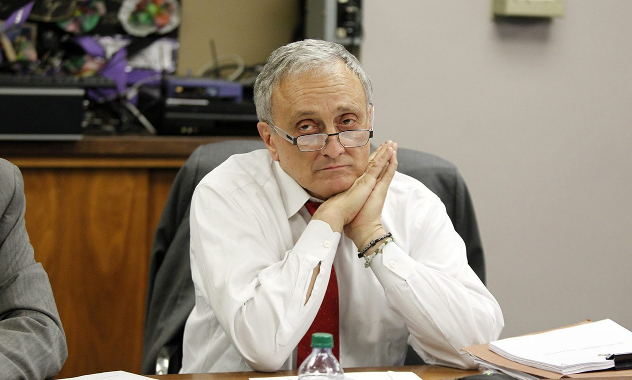Carl Paladino during a 2014 Buffalo School Board meeting. (Harry Scull Jr./News file photo)