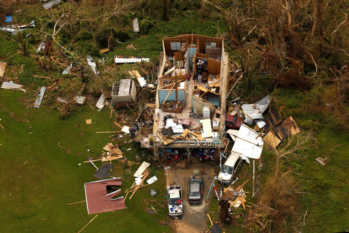 An overhead view of some of the devastation caused by Hurricane Maria in Puerto Rico. (TNS photo)