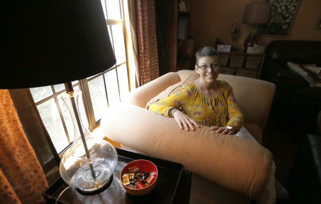 Former Fredonia resident Tammy Guayasamin-O'Dell at  her Bradenton home.  This was on Thursday, Sept. 14, 2017.  (Robert Kirkham/Buffalo News)