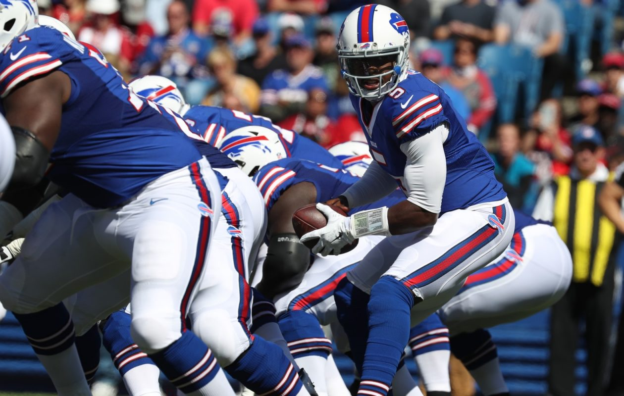 On Tyrod Taylor's passing plays with the Bills, only 13.8 percent of those plays began under center,  according to Pro Football Reference. (James P. McCoy/ Buffalo News)
