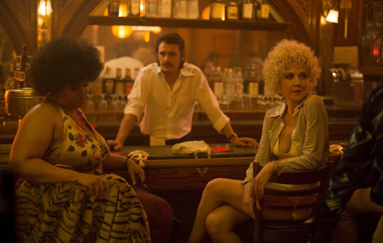 Pernell Walker, left, James Franco and Maggie Gyllenhaal star in HBO's 'The Deuce.' (Paul Schiraldi, HBO)