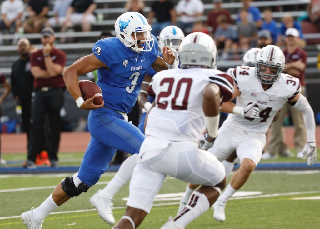 UB quarterback Tyree Jackson signed with the Buffalo Bills on Saturday as an undrafted free agent. (Derek Gee/News file photo)