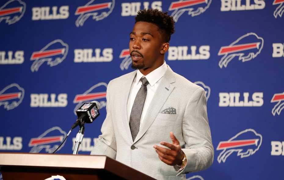 Tyrod Taylor still wonders why the Bills wanted him to take a pay cut. (Harry Scull Jr./Buffalo News)
