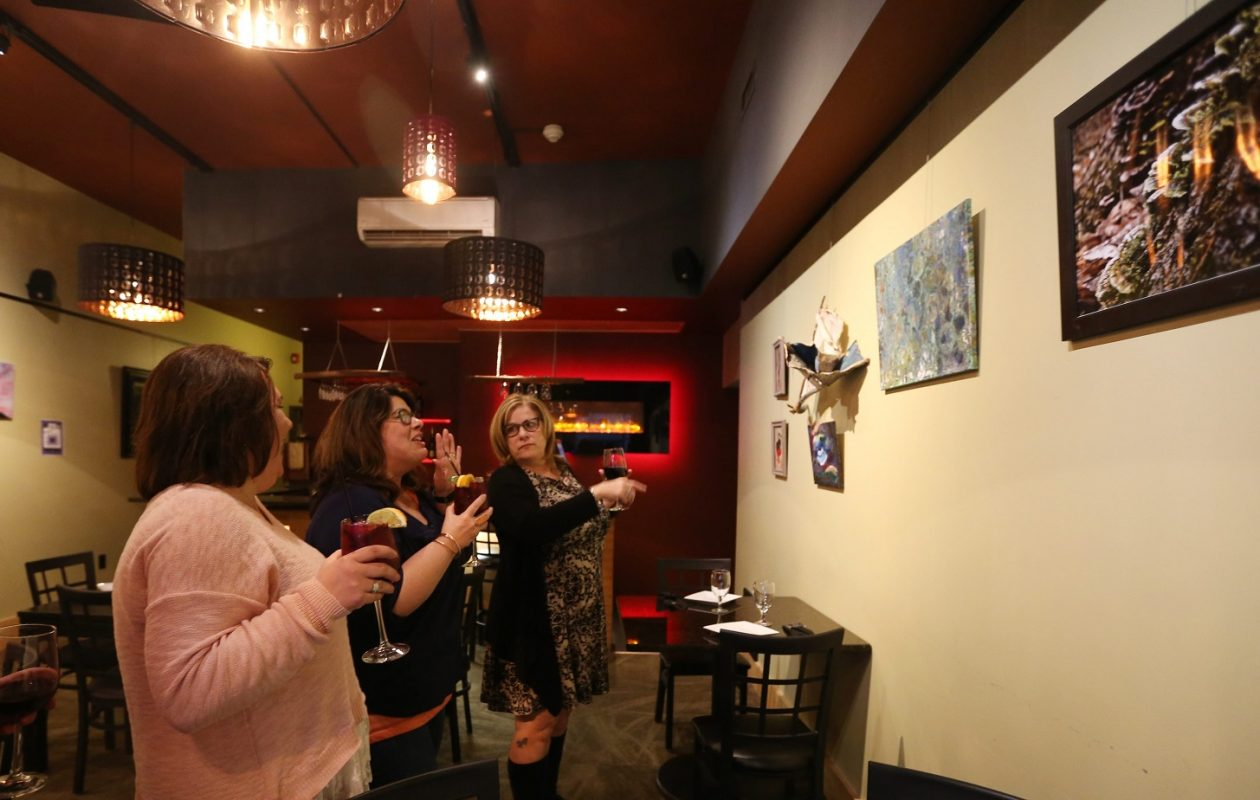 Win on Third, which hosted this art exhibit March 23, 2016, will host another after a domestic violence awareness walk Oct. 10, 2017. (Sharon Cantillon/Buffalo News)