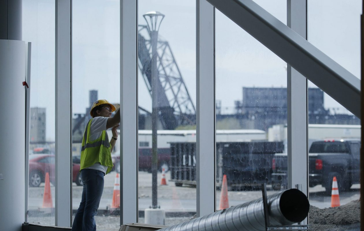 Construction-related employment has slowed after being buoyed by big projects that included the construction of the SolarCity factory in South Buffalo, economists noted. (Derek Gee/News file photo)