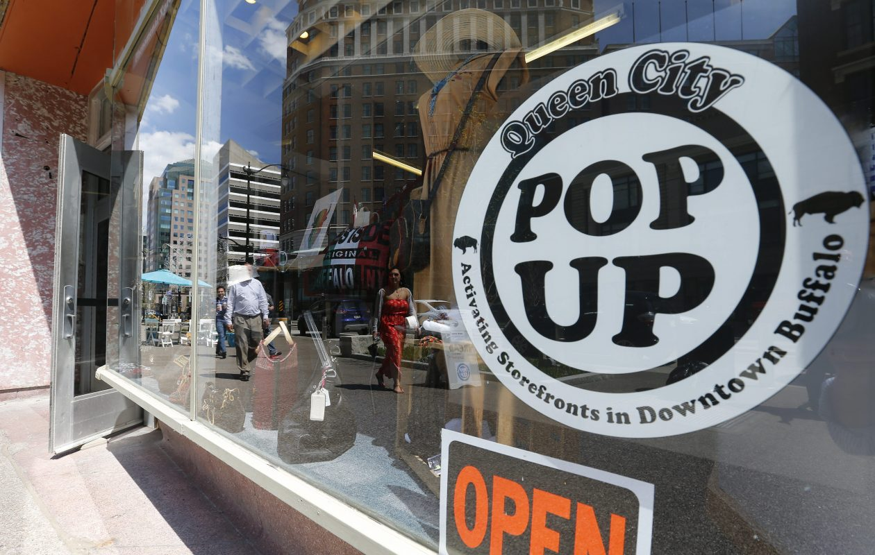 The Queen City Pop-Up on Main Street in Buffalo in 2016. (Mark Mulville/News file photo)