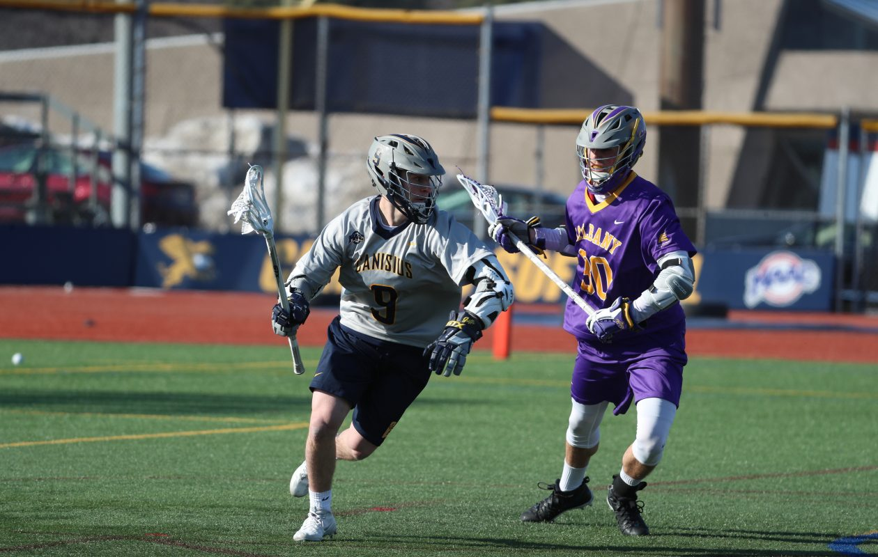 Ryan McKee and the rest of the Canisius men's lacrosse team will scrimmage Team Canada twice on Saturday at All High Stadium. Notre Dame will also scrimmage Canada in the afternoon. (James P. McCoy/Buffalo News)