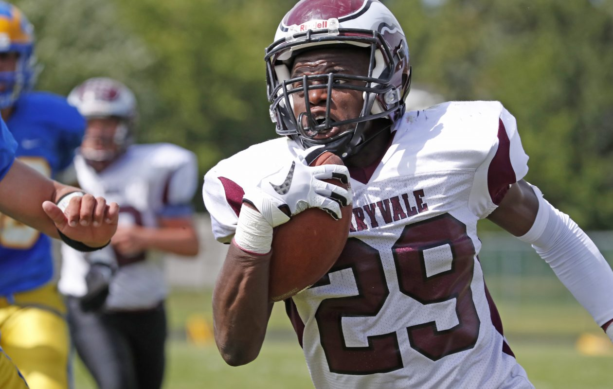 Rashad Law is averaging 9.8 yards per carry for Maryvale, which faces rival Cheektowaga with the winner clinching the Class B-1 Division title.  (Harry Scull Jr./Buffalo News)