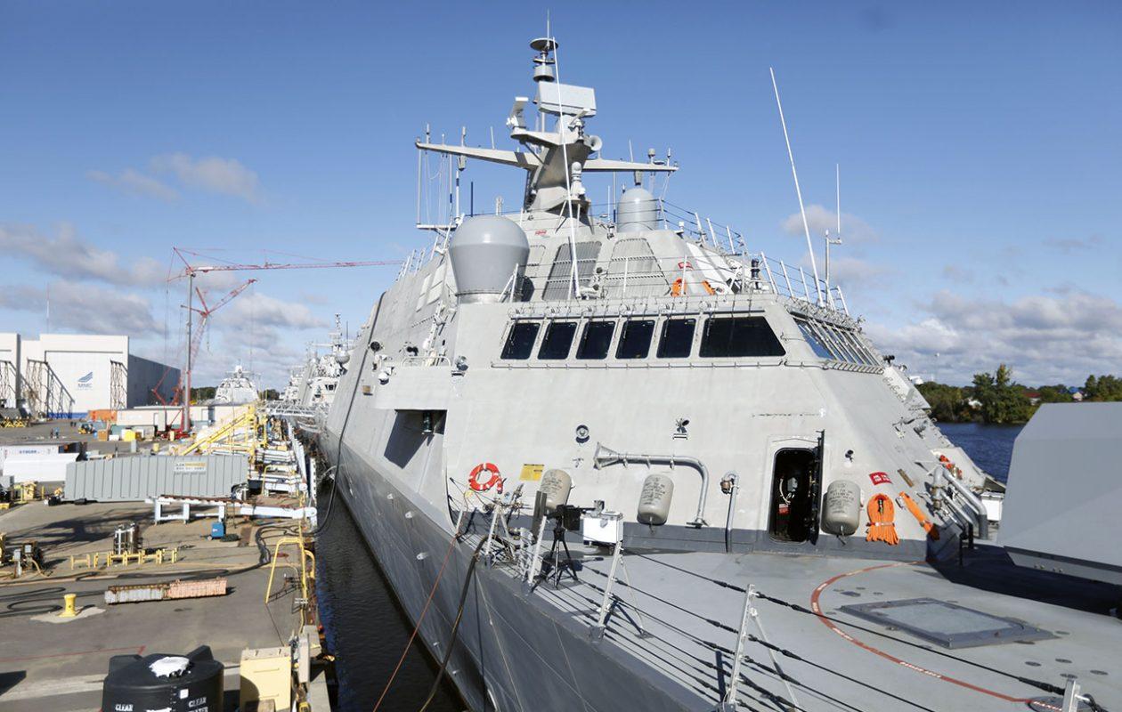 The LCS9, the future USS Little Rock. (Derek Gee/Buffalo News)