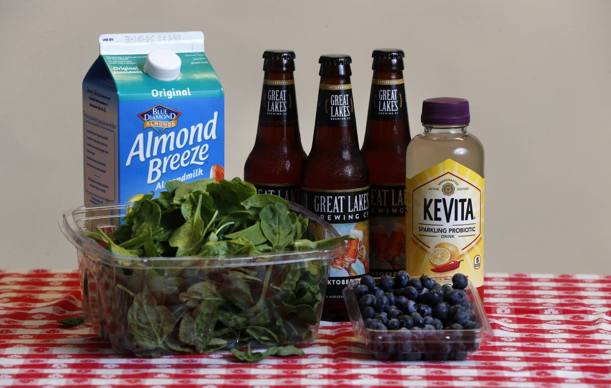 Five of the 103 products whose prices we compared on the same day in mid-September. All products were sourced in Amherst at Tops, Wegmans and Whole Foods.  (Mark Mulville/Buffalo News)