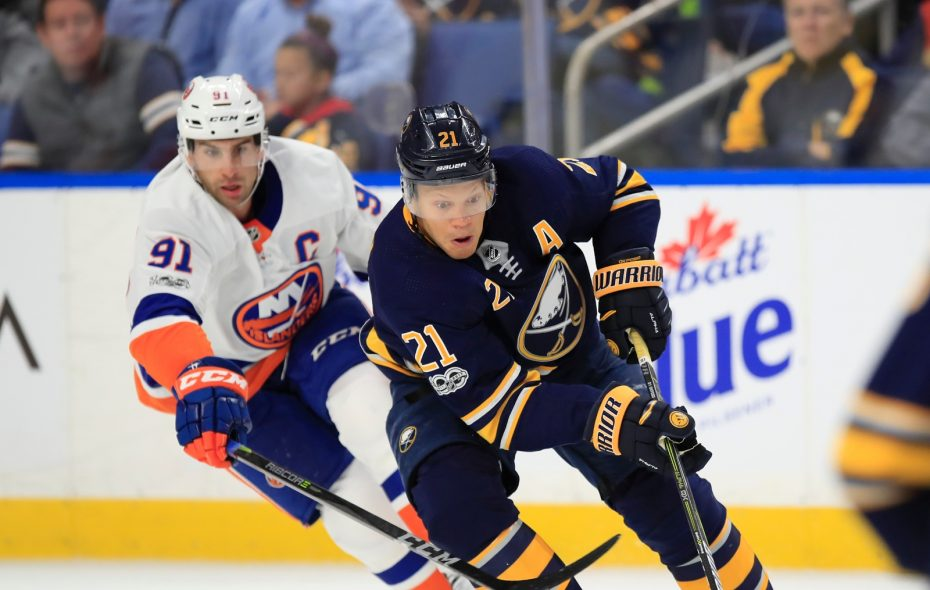 Sabres right wing Kyle Okposo has no goals and one assist in seven games. (Harry Scull Jr./Buffalo News)