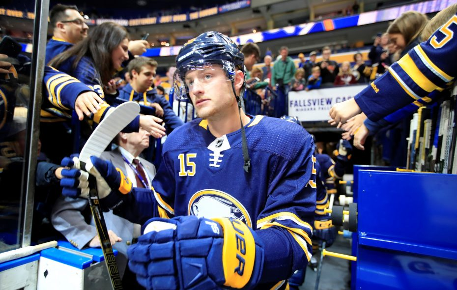 Jack Eichel's new contract puts him among the top six highest-paid players in the NHL. (Harry Scull Jr./Buffalo News)