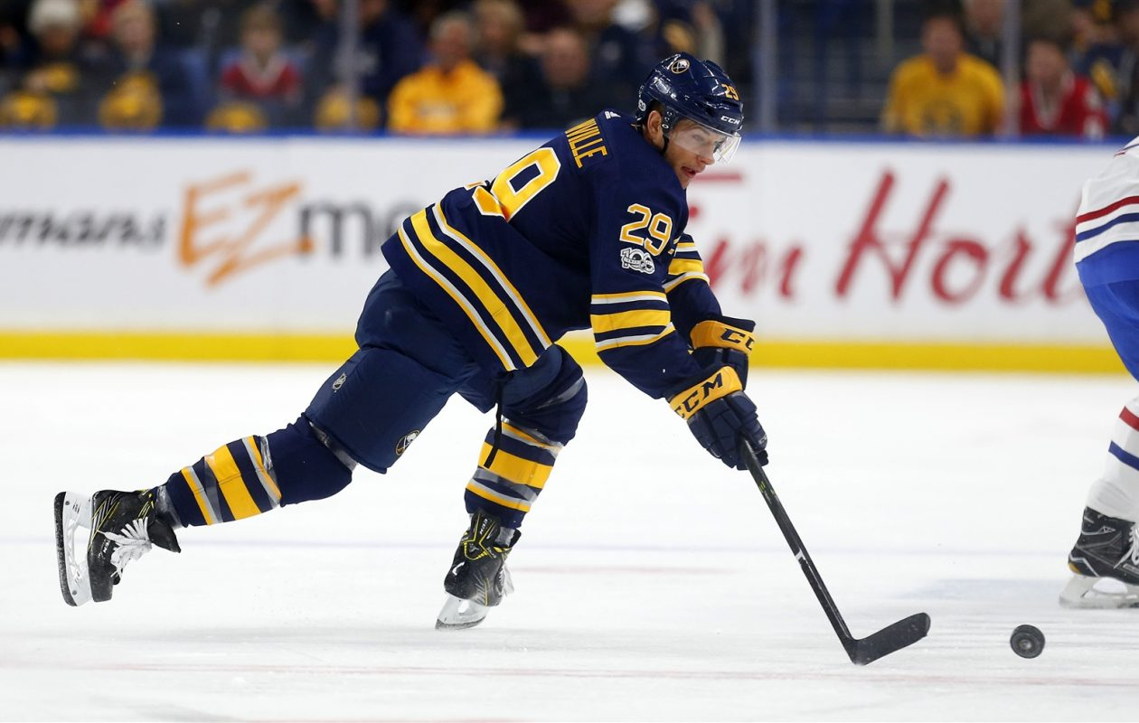Jason Pominville was one of nine skaters to see the ice during overtime Thursday. (Mark Mulville/Buffalo News)