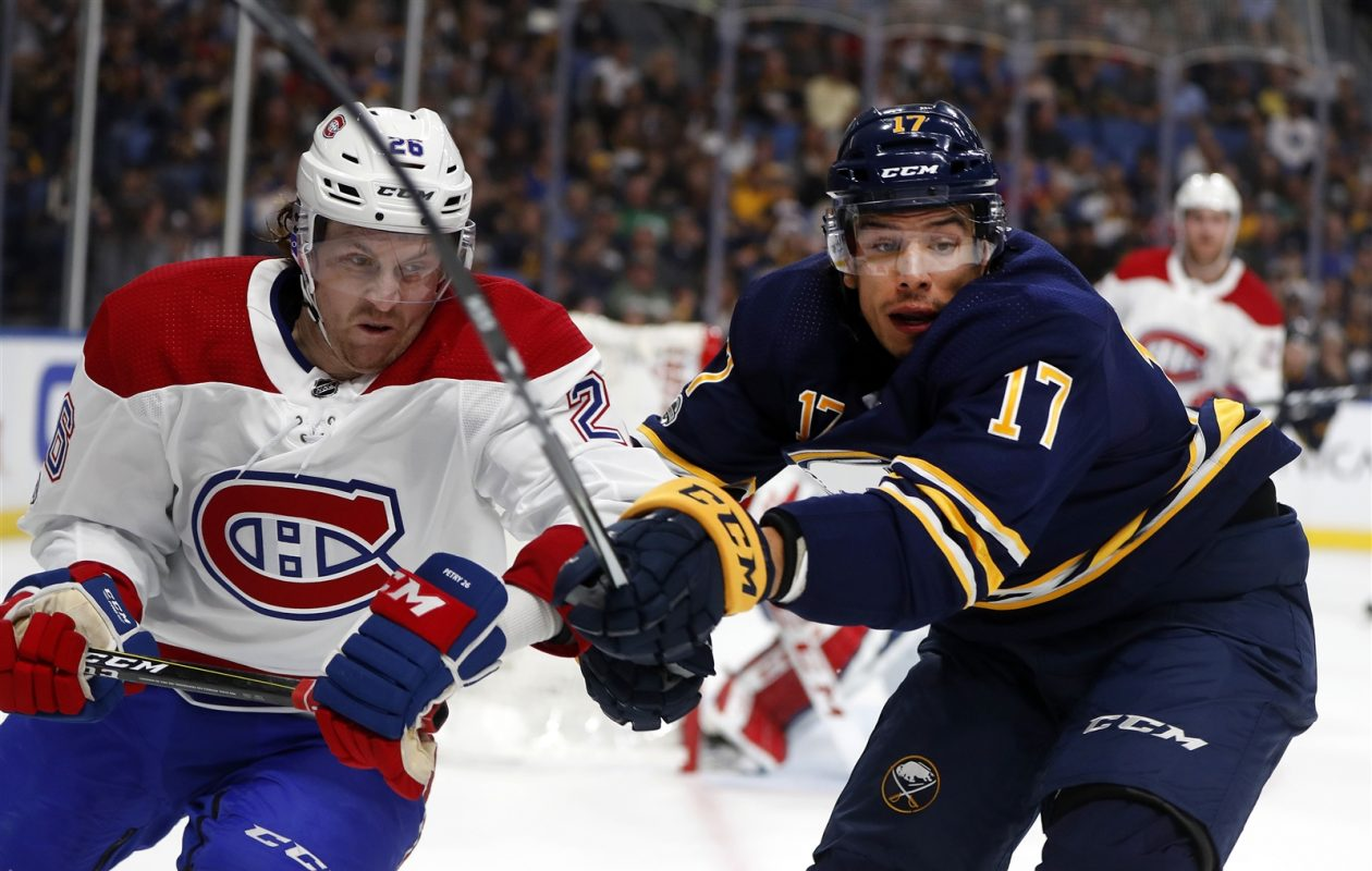 Jordan Nolan helped the Sabres' penalty-kill unit go 4 for 4 with his father, Ted, in attendance. (Mark Mulville/Buffalo News)