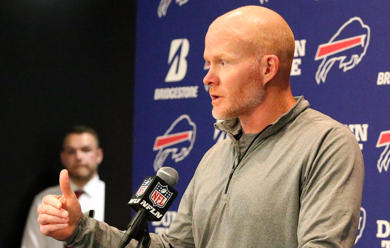 'I think we'd be making a huge mistake to say we're good enough in this area, we're good enough in that area, we're not good enough in that area,' Bills coach Sean McDermott told the media at a news conference Friday morning. (James P. McCoy/News file photo)
