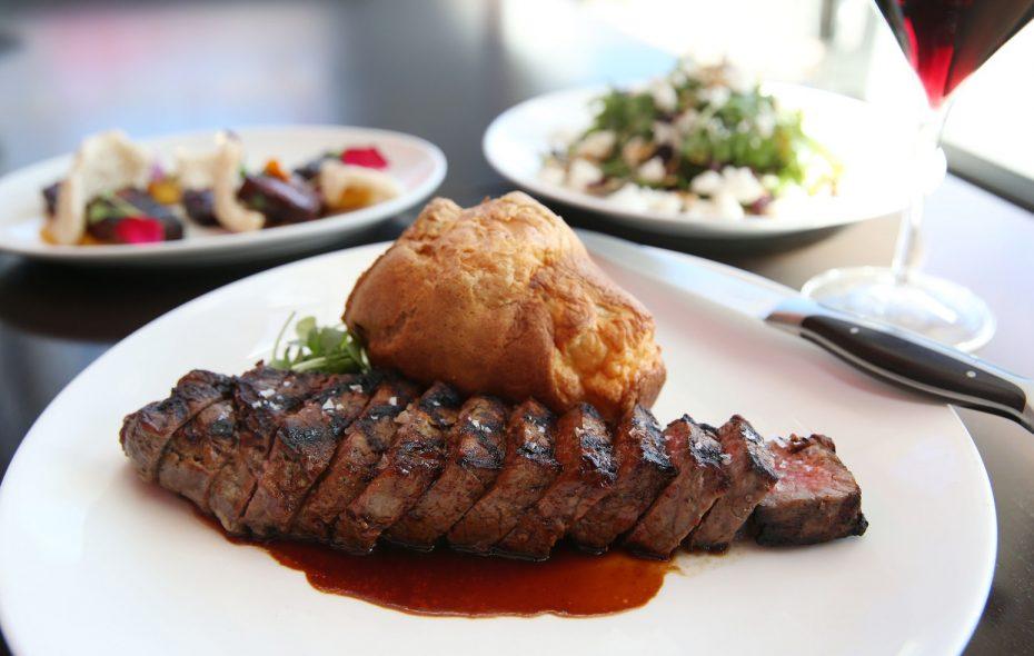 Sear's 10-ounce filet mignon with a gruyere popover. (Sharon Cantillon/Buffalo News)