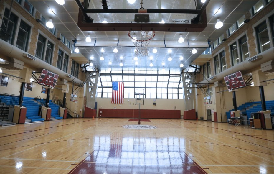 The gym at Hutch-Tech was among dozens of Buffalo Public Schools buildings that were redone under the Joint Schools Construction Project. (Robert Kirkham/News file photo)