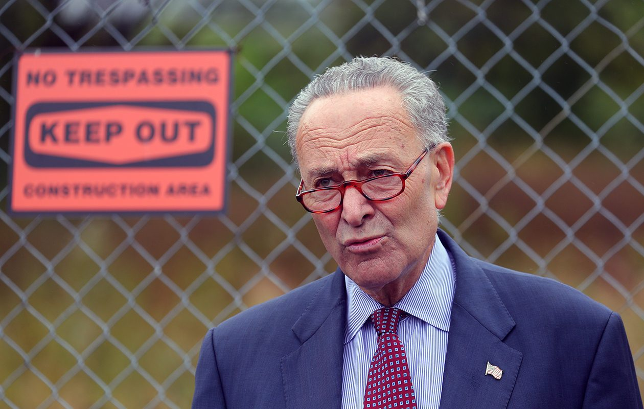 Senate Minority Leader Charles E. Schumer, a New York Democrat, has seen his popularity fall in recent state polls. (John Hickey/Buffalo News)