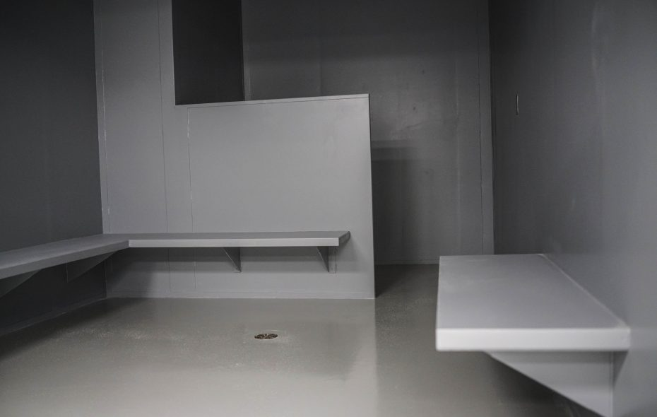 A cell in the temporary detention center in the ICE Buffalo field office.  (Derek Gee/Buffalo News)