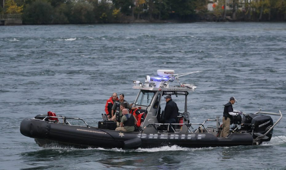 Law enforcement officials searched the Niagara River for five days for the body of Officer Craig Lehner after he went missing under water during a training exercise on Oct. 13. (Sharon Cantillon/Buffalo News)