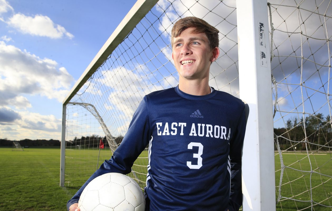Bryce Schiltz is the all-time leading scorer in East Aurora boys soccer history. (Harry Scull Jr./Buffalo News)
